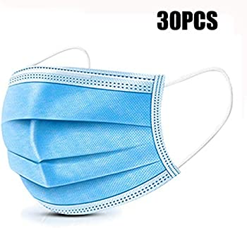 30-Count Adjustable Earloop Face Mask-Protect Yourself from Dust and Health