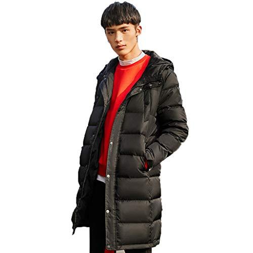 Donsjassen Jassen Heren Jeugd Winter Kleding Hooded Grijs Eend Down Lange Trendy Letters Dikke Lange Verdikte Slim Fit