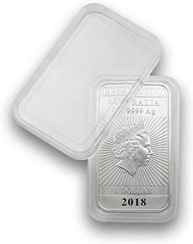 Lindner 10 Münzkapseln Rechteckig für 1 Unze Drache Silber-Münzbarren Rectangular