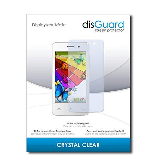 disGuard® Bildschirmschutzfolie [Crystal Clear] kompatibel mit Mobistel Cynus E4 [2 Stück] Kristallklar, Transparent, Unsichtbar, Extrem Kratzfest, Anti-Fingerabdruck - Panzerglas Folie, Schutzfolie