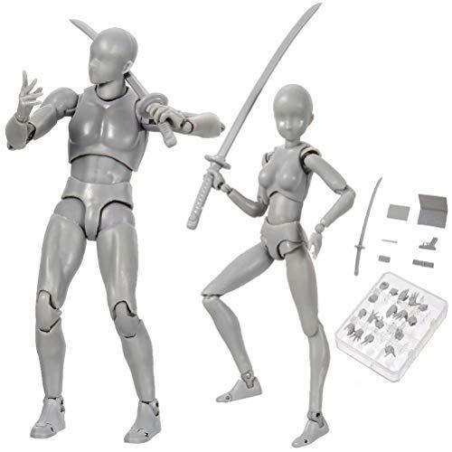 Niikee Actionfigur Modell 2.0 Körper Kun Puppe PVC Body-Chan DX Zeichenpuppen mit verschiedenen Gesten, Modellständer, Handy-Kit zum Zeichnen Skizzieren Malen