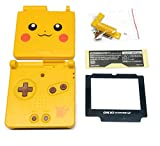 RGRS Replacement New Pikachu Full Housing Shell Case Repair Parts Kit w/Lens & Screwdriver for Nintendo Game Boy Advance SP Console GBA SP