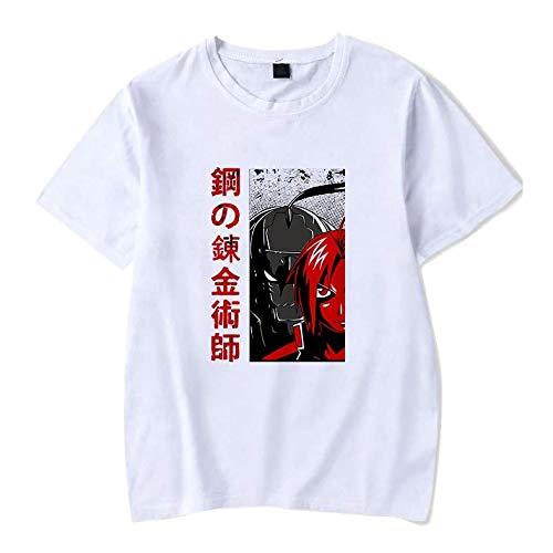 Camiseta Básica Unissex Algodão Fullmetal Alchemist Anime (Rosa Bebê, G)