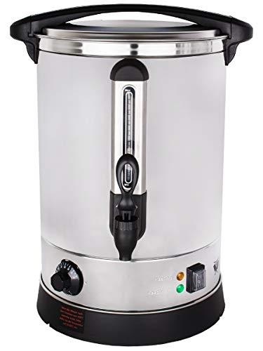Beeketal 'BGWK15' Gastro Glühweinkocher 15 Liter Volumen mit Füllstandskala, Anit-Tropf Zapfhahn und stufenlos regelbarem Thermostat (30-110 °C), Profi Edelstahl Wasserkocher mit 2500 Watt Leistung