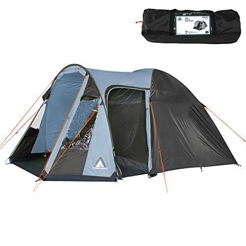 10T tent Corowa voor 4 of 5 personen en diverse Kleuren naar keuze, familietent met stahoogte, 5000 mm campingtent, waterdichte iglo-koepeltent.
