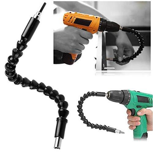 Winkelaufsatz für Akkuschrauber, Bohrmaschine & Schraubenzieher - Über 100° Winkelschrauber-Aufsatz - FLEXIBLER Adapter als Bohrer Verlängerung mit MAGNET-BIT-HALTEFUNKTION