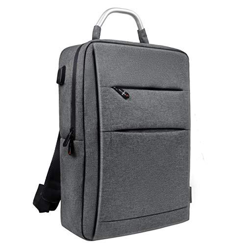 リュック ビジネスリュック メンズ バックパック ビジネスバッグ 軽量 男性用 人気 通勤 出張 旅行 通学 おしゃれ グレー 15.6インチPC パソコン対応 usb 2Way A1047