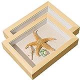 Marco De Caja De Sombra De 6x4 Marco De Pared De Galería 1.2 Pulgadas De Profundidad Ideal para Collages Colecciones Recuerdos (Color : Beige, Size : 6×4)
