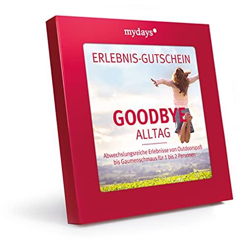 mydays Erlebnis-Gutschein Goodbye Alltag, über 200 Erlebnisse für 1-2 Personen, Geschenk Freundin, Geschenk für Frauen, Jahrestag Geschenk für sie, Couple Geschenk, kleine Geschenke für Frauen