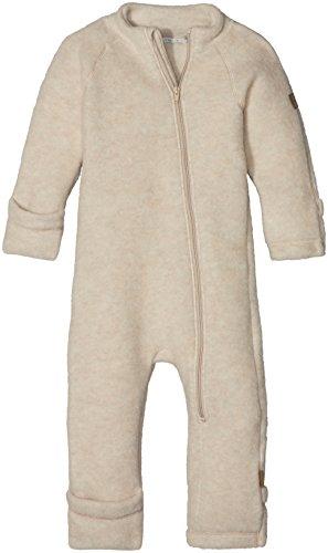 mikk-line Unisex Baby Wollanzug Spieler, Beige (Melange Offwhite 429), 68