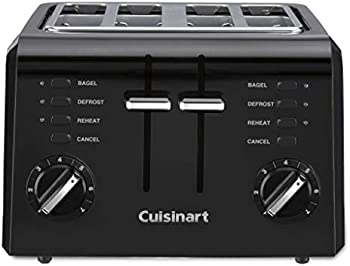 Cuisinart 4 CPT-142BK 4-Slice Compact Plastic Toaster