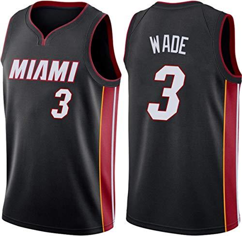 GIHI Camiseta De La NBA - Camisetas De Miami Heat NBA 3# Dwyane Wade - Camiseta Cómoda Unisex con Chaleco Deportivo De Baloncesto,B,XL(180~185CM/85~95KG)
