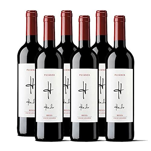Vino tinto Hado de 75 cl - D.O. La Rioja - Bodegas Pujanza (Pack de 6 botellas)