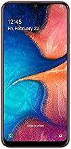 "Samsung Galaxy A20 (32GB, 3GB RAM) 6.4"" Super AMOLED, Infinity-V Display, Fast Charge 4000mAh Battery, US & Global 4G LTE Dual SIM GSM Factory Unlocked A205G/DS - International Model (Red, 32GB)"