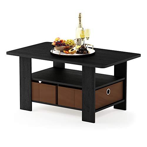 Furinno-11158DBRBK-Coffee-Table-with-Bins