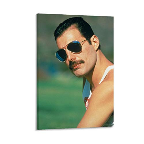 Queen Freddie Mercury Wallpaper Cover 2 Canvas Art Poster and Wall Art Picture Print Modern Family Bedroom Decor Posters 16x24inch(40x60cm)