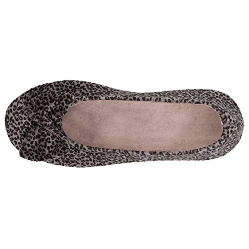 Isotoner - Zapatillas de bailarinas para mujer, diseño de leopardo, Multicolor (leopardo), 39/40 EU