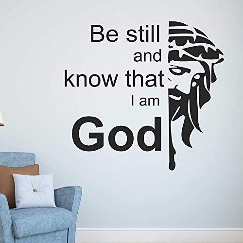 Dios etiqueta de la pared texto palabra vinilo ventana calcomanía dormitorio sala de estar decoración del hogar arte creativo mural