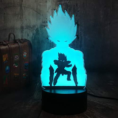 Anime Action Character 3D Night Light Led Lampe De Table Lampe De Chevet Pour Chambre D'enfants Décor À La Maison De Noël Cadeaux D'anniversaire Avec 7 Changement de Couleur