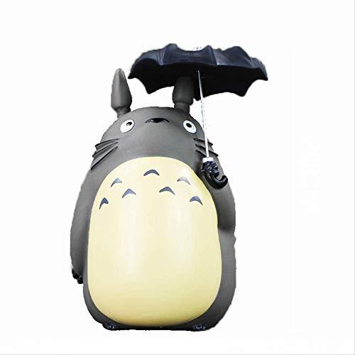 Yangzou 20Cm Mein Nachbar Totoro Mit Regenschirm PVC Figur Miyazaki Hayao Sammlermodell Spielzeug Sparschwein
