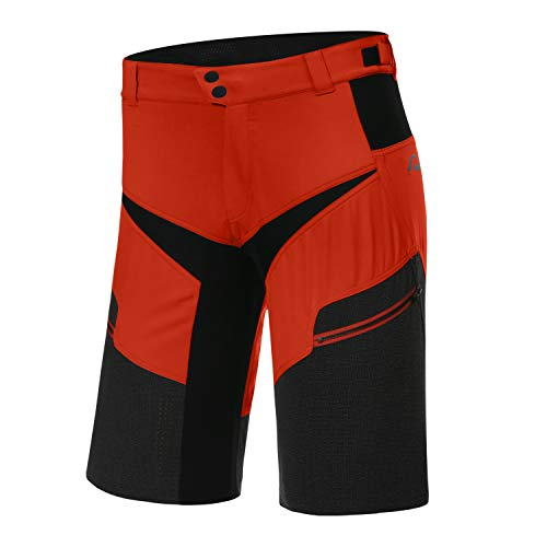 Protective P-Life is Wild Fire Red 2021 - Pantalones cortos de ciclismo para hombre (talla XXL), color rojo