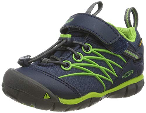 Keen Unisex Kid's Chandler CNX WP Hiking Shoe Dress Blues/Greenery 1 Youth US Big Kid
