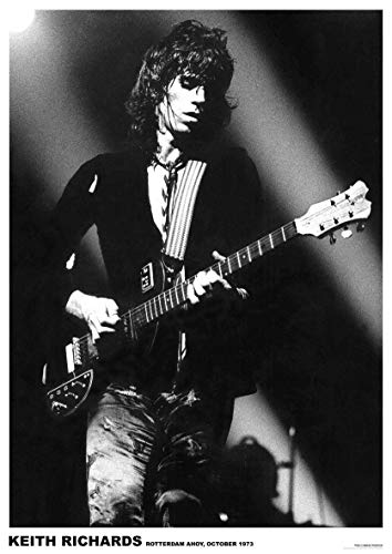 Rolling Stones Poster Keith Richards Rotterdam AHOY 1973