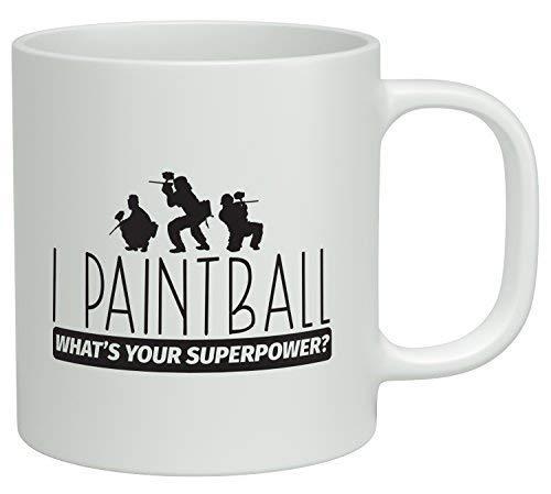 Keramik Tasse,Große Teebecher,Porzellan Kaffeebecher,Porzellantasse,Ich Paintball Was Ist Deine Supermacht? -