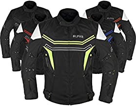 Motorcycle Jacket For Men Enduro Dualsport Riding High Visibility Dirtbike Ce Armor Waterproof All Season (GREEN, X-LARGE, x_l)