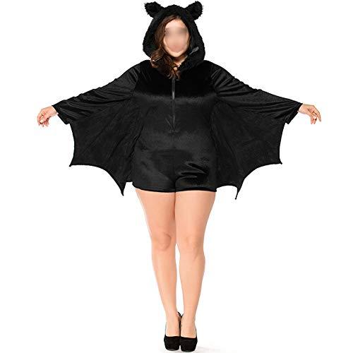 Meijunter Costumi di Halloween - Bambino Adulto Accogliente pipistrello tuta Vampiro Cosplay Costume Ragazze Donne Famiglia Festa
