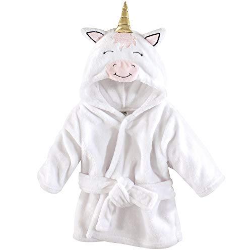Hudson Baby - Accappatoio unisex in peluche con motivo a unicorno, taglia unica, 0-9 mesi