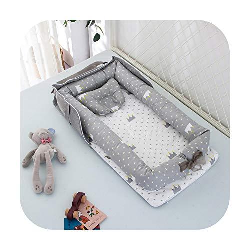 Petsupplies Cama nido para niños y niñas cama de viaje infantil de algodón cuna cuna cuna bebé cuna cuna bebé cuna recién nacido cama 06