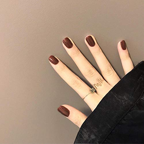 Finished manicure hand piece cute short solid color girl bean paste pink little fairy fake nail patch wholesale-N180 [glue] short paragraph -  meijiago, jhgji2977