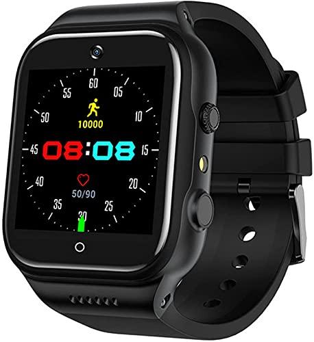 ALXLX Smart Watch, HD Video Llamada Bluetooth WiFi 4g Grabación De Música Reconocimiento Face Reconocimiento Deportivo Datos Deportivos Reloj Multifunción para Android 9.0, A