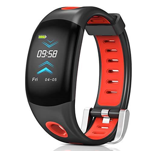 Fitness Tracker,Bluetooth Wasserdicht Fitness Armband 3D Farbdisplay mit Pulsmesser Herzfrequenzmesser,Aktivitätstracker,Schrittzähler,Schlaf Monitor,Kalorienzähler für Android und IOS Smartphones