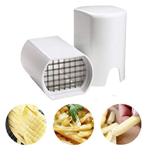 HUONIUPIC Multifunktionaler Kartoffelschneider, Pommes Frites und Pommes Frites, Kartoffelschneider aus Edelstahl, Haushaltsgemüse- und Obstschneider, verwendet für Gemüse, Obst und Kartoffelchips.