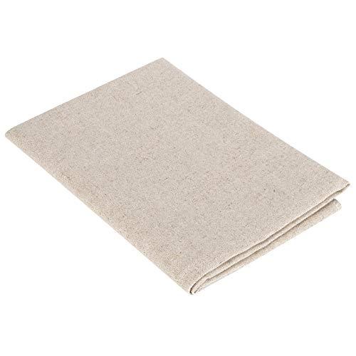 Alfombrilla de tela fermentada gruesa lavable para hornear pan masa (algodón y lino, 66 x 90 cm)