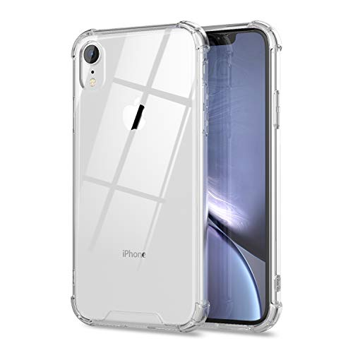 cheap iphone xr cases ORASE Ultra Clear Cases Designed for iPhone XR Case [Shockproof] [Slim Fit] Protective Phone Case with Raised Edges Soft Bumper & Hard Back Cover (Crystal Clear)