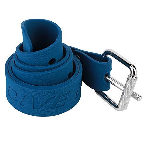 CHICIRIS Cinturón de lastre de Buceo, Azul Cinturón de Cintura de cincha de Peso de Buceo Duradero con Hebilla de liberación rápida Accesorios de Buceo (Caucho)(Azul)