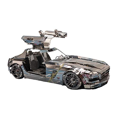 3D Puzzle for Adults Mechanical Models Kits to Build DIY Model Building Kits Puzzles 3d Very Detailed and Sturdy Metal plastic Mechanical (Color : B)