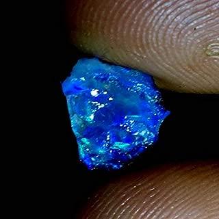 Qualitygems 02.40Cts. Natural Ethiopian Opal Multi Fire Rough 08x09x05MM. Gemstones SM13-32