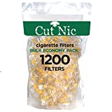 Cut-Nic 6 Hole Disposable Cigarette Filters - Bulk Economy Pack (1200 Per Pack) Filter Tips
