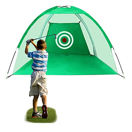 FUNME Golf Hitting Net with Target Sheet Golfing Portable Training Aids Driving Range for Outdoor and Indoor with Carry Bag and Golf Balls (Green, 6.6ft)