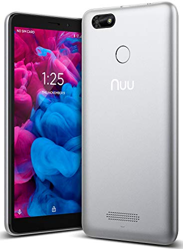 NUU Mobile A5L Unlocked 4G LTE Cell Phone - 5.5' Android 8.0 Oreo Go Edition Smartphone - Silver