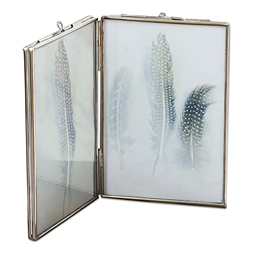 Loberon Bilderrahmen Jerrie, Glas/Edelstahl, H/B ca. 15/10 cm, Silber