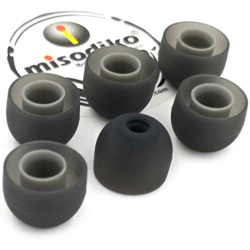 L Black Triple Flange Eartips for Jaybird Freedom /& Freedom Sprint 6 Large