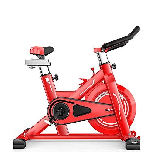 ZAIHW Interni Cyclette Spinning Ciclismo Cyclette, Pedale di Controllo Magnetico Ultra-Silenzioso Indoor Sports Esecuzione Fitness noleggio Biciclette (Color : Red)