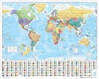 世界地図 ポスター 勉強用