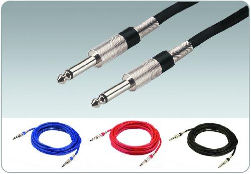 Img Stage Line MCC-600/SW Instrumentenkabel (6,3 mm Klinkenstecker / -stecker) 6m schwarz