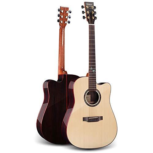 SUNXK 41-Zoll-Furnier Gitarre Palisander einzelne Fichte Gesicht Gitarrenballade Licht Cutaway Akustikgitarre (Color : Veneer Spruce Rosewood, Size : 41 inch)